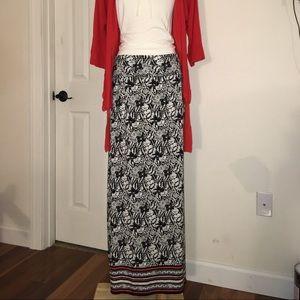 NWT Max Studio Maxi Print Skirt